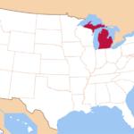 Какие штаты граничат с Мичиганом?