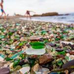 Уникальный Стеклянный пляж Калифорнии